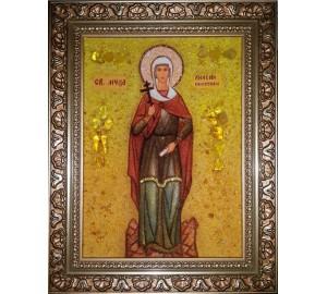 Анісія Солунская - ікона з янтаря (ар-296)