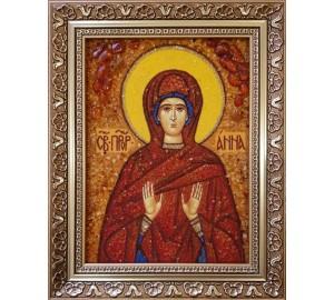 Анна - Именная икона из янтаря (ар-207)
