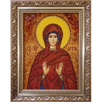 Ганна - Іменна ікона з янтаря (ар-207)