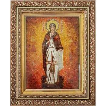 Антонина Кродамнская - икона с янтарем (ар-68)