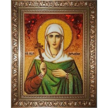 Антонина Никейская - икона с янтарем (ар-309)