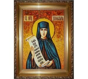 Аполлінарія - ікона з бурштином (ар-59)