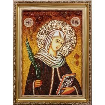 Аполлония Александрийская - Красивая янтарная икона (ар-134)