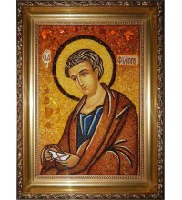 Апостол Филипп - янтарная икона ручной работы (ар-64)