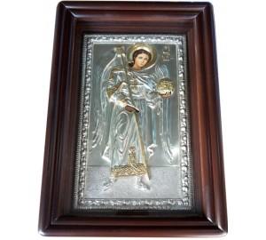 Архангел Михаил - Писаная икона в окладе с серебром (хм-39)