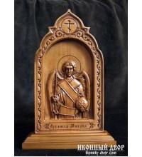 Архангел Михаил - Резная деревянная икона (210 х 115 Груша) (ДВ-5)