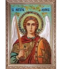 Архистратиг Михаил - икона из янтаря (ар-375)