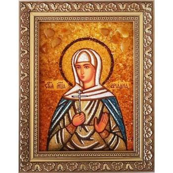 Ариадна - Очаровательная икона ручной работы из янтаря (ар-135)