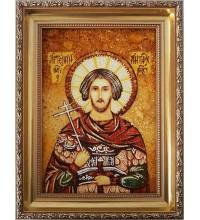Артемий Антиохийский - Именная Икона из янтаря (бурштину) ручной работы (Артемий )