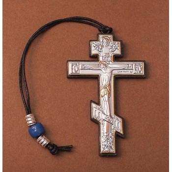 Автомобильная подвеска - Крест с серебром (EK крест)