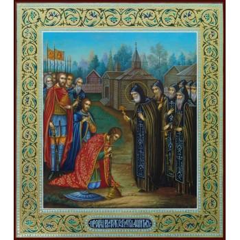 Благословення Дмитрія Донського Сергієм Радонезьким - Ікона Писана (ір-5)