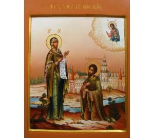 Боголюбская Икона Богородицы - Великолепная писаная икона (Гр-22)