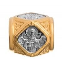 Бусина Ангел Хранитель - бусина серебряная с позолотой (S-18)