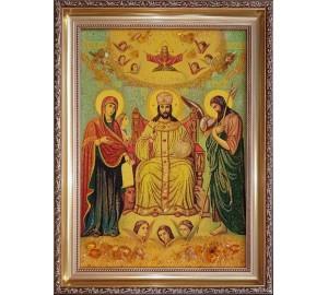 Царь славы - икона из янтаря (ар-361)