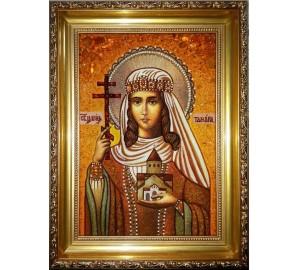 Царица Тамара - икона из янтаря (ар-295)