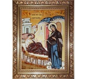 Целительница - икона из янтаря (ар-359)
