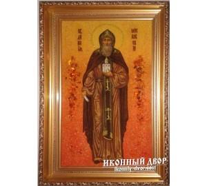 Данило Московський ікона з янтаря - допомога в житлові проблеми (ар-146)