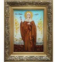 Дарія Римська - іменна ікона, з бурштином (ар-172)