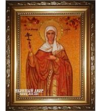 Дарина - Красива янтарна ікона ручної роботи (ар-172)