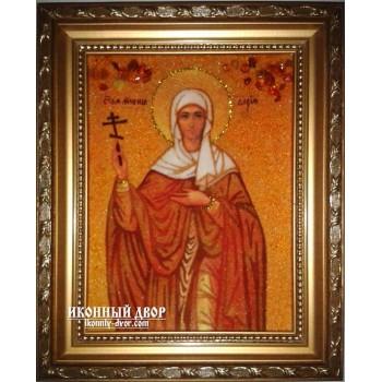 Дарья - Красивая янтарная икона ручной работы (ар-172)