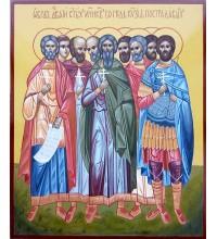 Девять святых мучеников Кизических - писаная икона (ВЧ-25)