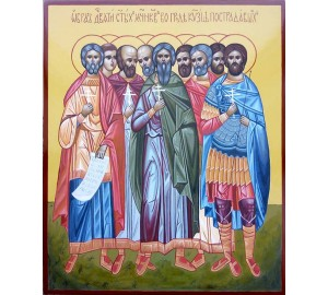 Дев'ять святих мучеників Кизических - ікона писана (ВЧ-25)