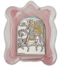 Дмитрий Солунский - Икона в муранском стекле с серебром и позолотой (EK1MAG - Дмитрий Солунский)