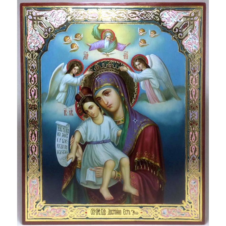 Икона Богородицы Достойно есть купить, заказать в Киеве с доставкой по  Украине    Иконный Двор - интернет магазин икон