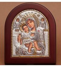 Достойно Є - ікона Божої Матері з сріблом та позолотою (GOLD)