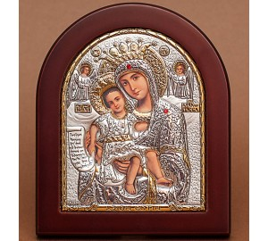 Достойно Есть - икона Божьей Матери с серебром и позолотой (GOLD)