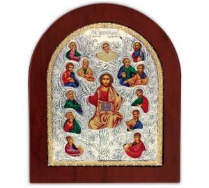 Древо Жизни - Икона арочной формы с серебром и позолотой (GOLD)