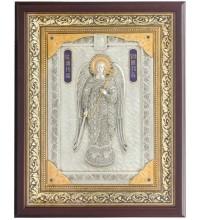 Ексклюзивна ікона на подарунок святий Ангел-Хранитель - ікона з сріблом (ЮО-52)