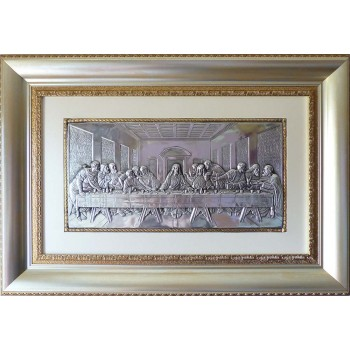 Эксклюзивная икона Тайная вечеря - шикарная икона с серебром (лтв-04)
