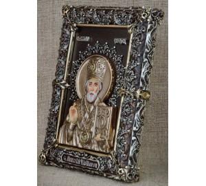 Ексклюзивна настільна ікона Святий Миколай (Ос-МН33)
