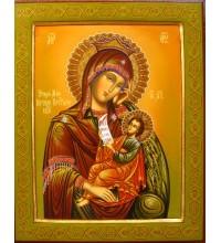 Ексклюзивна писана ікона Пресвятої Богородиці Утамуй Моя Печалі (Гр-20)