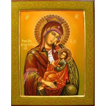 Эксклюзивная писаная икона Пресвятой Богородицы Утоли Моя Печали (Гр-20)
