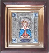 Олена - іменна ікона з сріблом, в дубовому кіоті (юо-35)