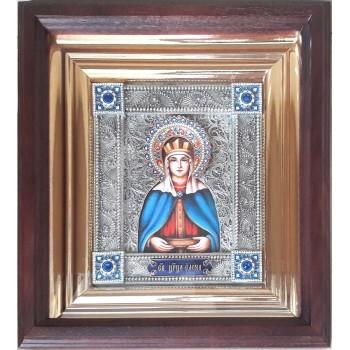 Елена - именная икона с серебром, в дубовом киоте (юл-35)