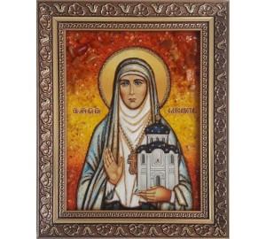 Елизавета (Елисавета) - именная икона из янтаря (ар-231)