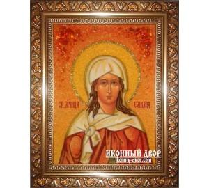 Емілія (Емілія) - Іменна ікона з янтаря (ар-143)