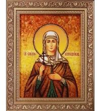 Емилия Кесарийская - икона из янтаря (ар-255)