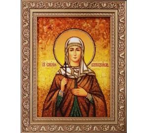 Емілія Кесарийская - ікона з янтаря (ар-255)