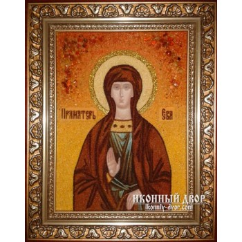 Ева - Именная икона из янтаря (бурштину) ручной работы (Єва)