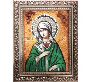 Ева Праматерь - Красивая именная янтарная икона ручной работы (ар-200)