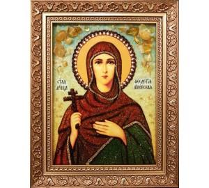 Феодотия Никейская - икона из янтаря (ар-377)