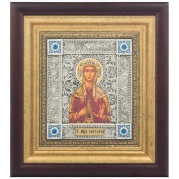 Фотиния (Светлана) - именная икона, серебром (k-27)