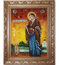 Геронтисса - икона Божией Матери, из янтаря (ар-354)