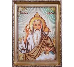 Господь Саваоф - Икона из янтаря (ар-371)