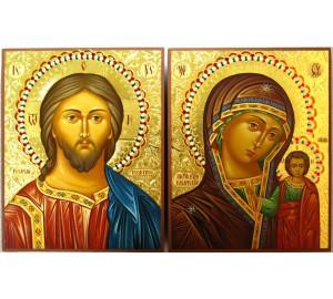 Господь Вседержитель и Казанская Богородица - иконы для венчания (Гр-92)