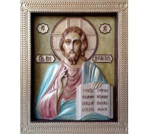 Господь Вседержитель  - икона ручной работы из натурального дерева (р-27)